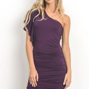 Dresses & Skirts - Off Shoulder Body Contour Dress - Plum